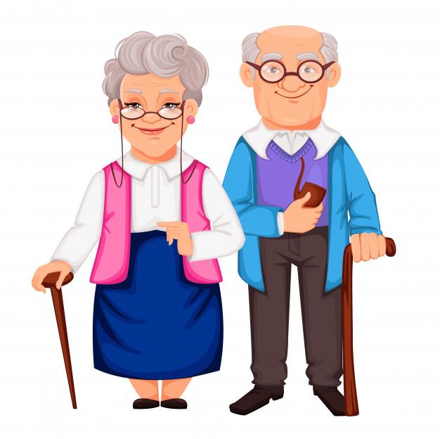 Močiutėms, seneliams